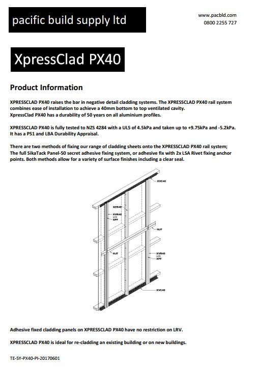 XpressClad PX40 Product Information