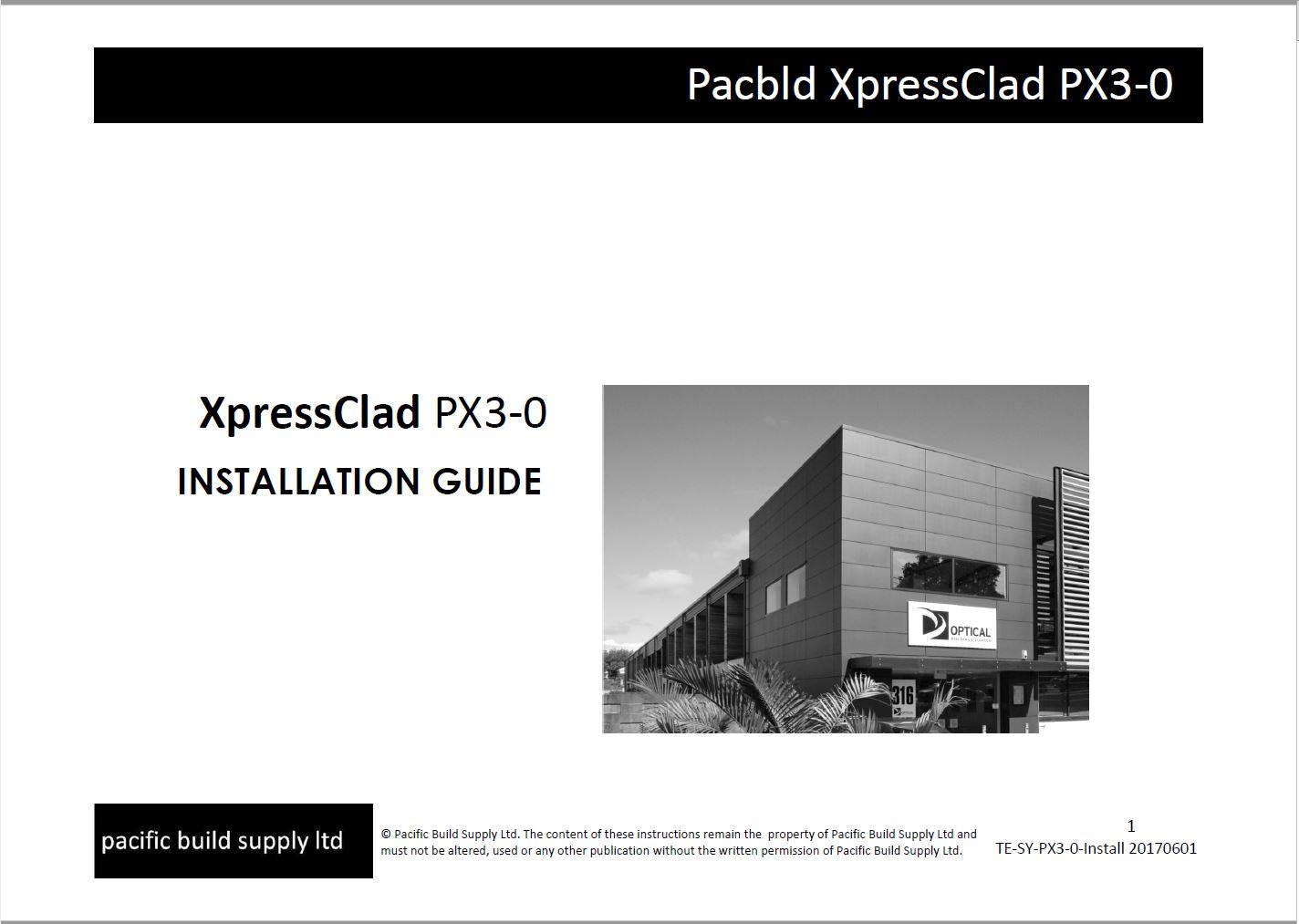 XpressClad Install guide