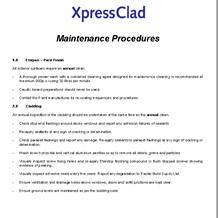 XpressClad Maintenance