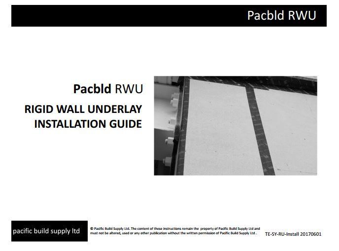 Rigid Wall Underlay Installation Guide