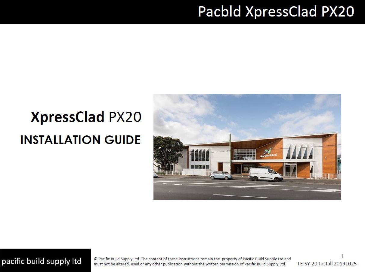 XpressClad PX20 Installation Guide [Nov 19]