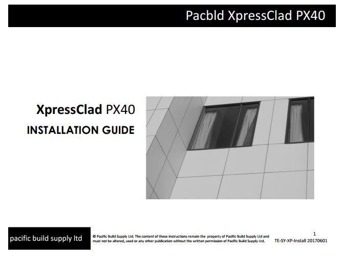 XpressClad PX40 Installation Guide