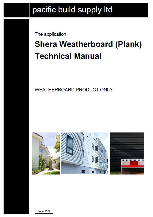 Shera Weatherboard (Plank) Technical manual