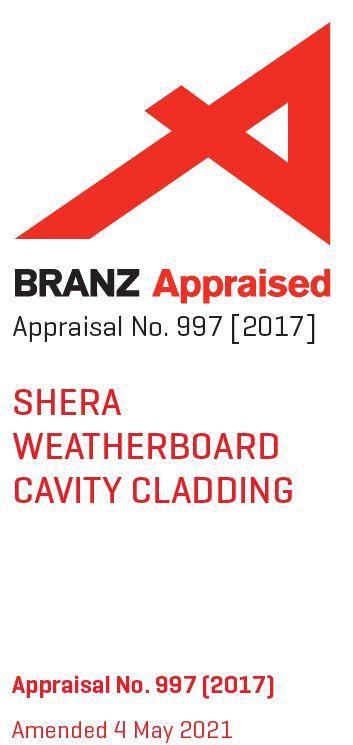 Branz Appraisal 997 Shera Weatherboard Cavity Cladding (Always check website for latest version)