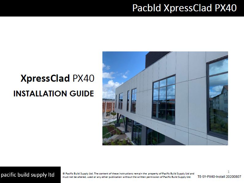 XpressClad PX40 Installation Guide [Aug 20]