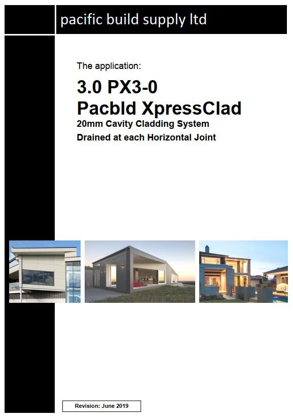 XpressClad PX3-0 (Any details not in the standard set need to be