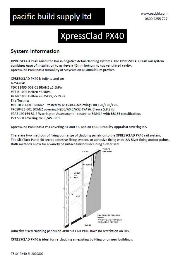 XpressClad PX40 System Information [Aug 20]