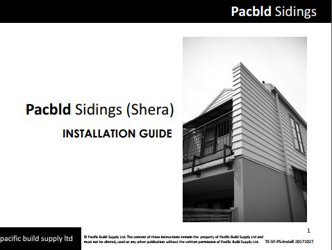 Pacbld Sidings Installation guide - PDF
