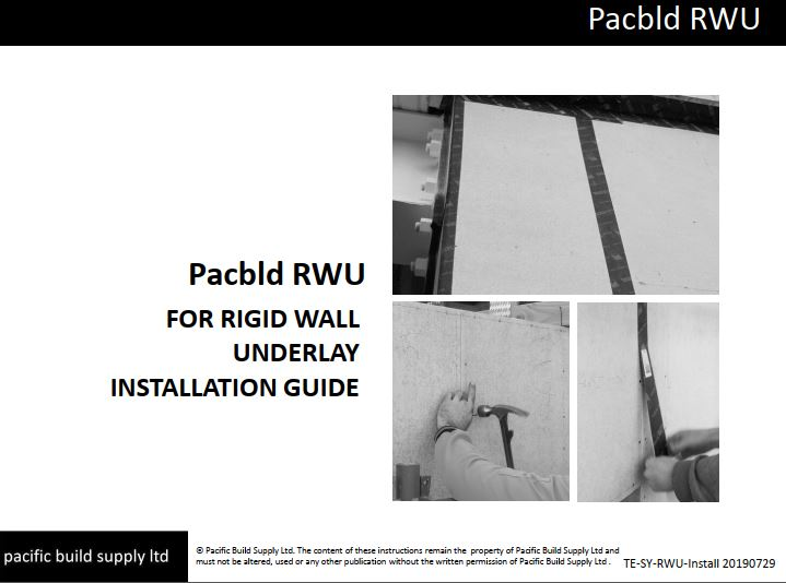Pacbld RWU-PSM (Peel and Stick Membrane) Installation Guide
