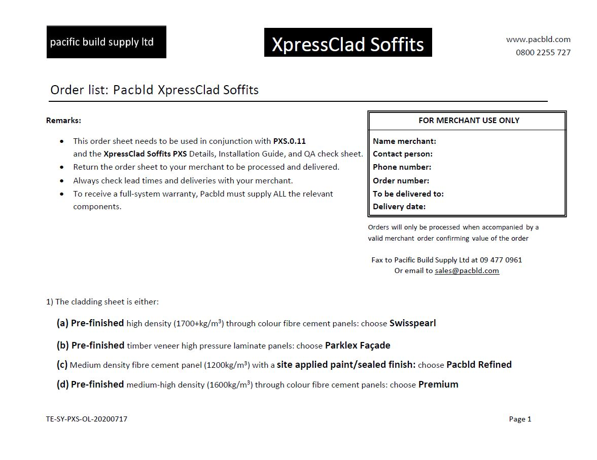 PXS Order List - PDF