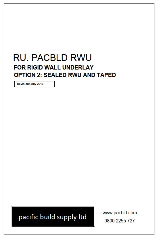 Pacbld RWU Sealed and Taped Details
