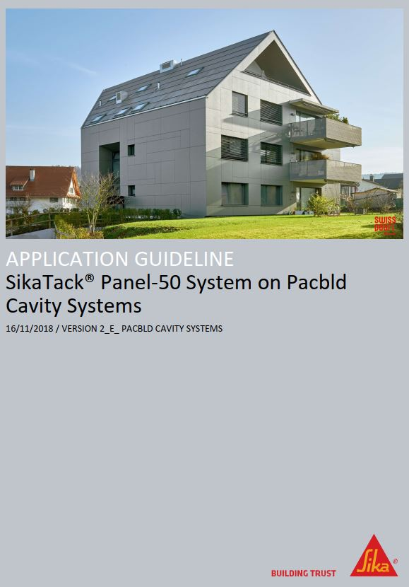 PX3-0 SikaTack Panel-50 on Pacbld Cavity Systems Application