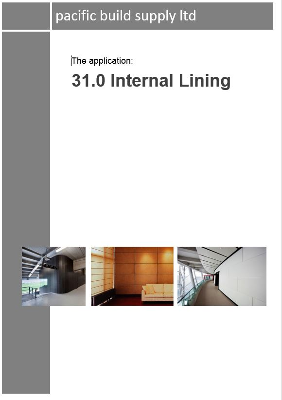 31.0 Internal Lining Full Manual - PDF
