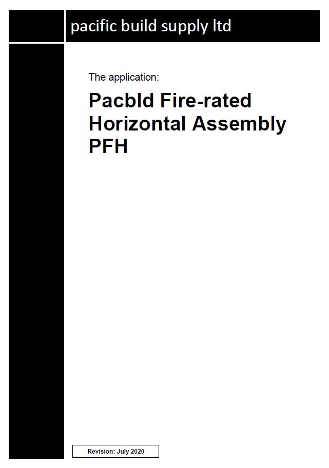 Pacbld Fire-rated Horizontal Assembly PFH Full Manual - PDF